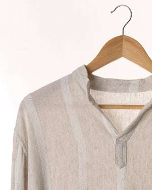 Oatmeal Stripe Relaxed Vintage Top