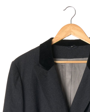 Charcoal Grey Vintage Wool Blazer