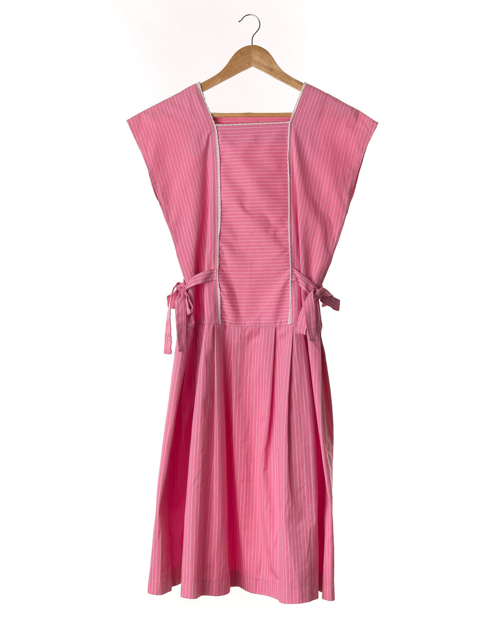 Bubblegum Pink Vintage Midi Dress