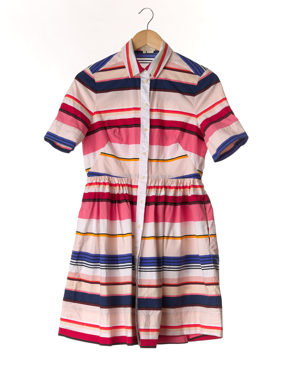 Candy Stripe Designer Cotton Dress