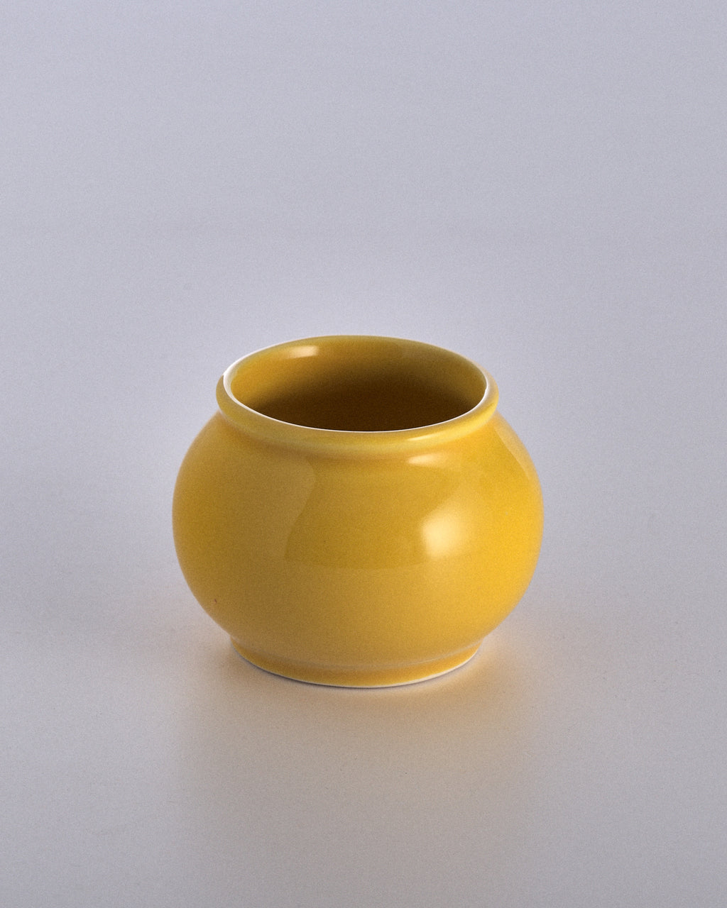 Canary Yellow Small Vintage Pot