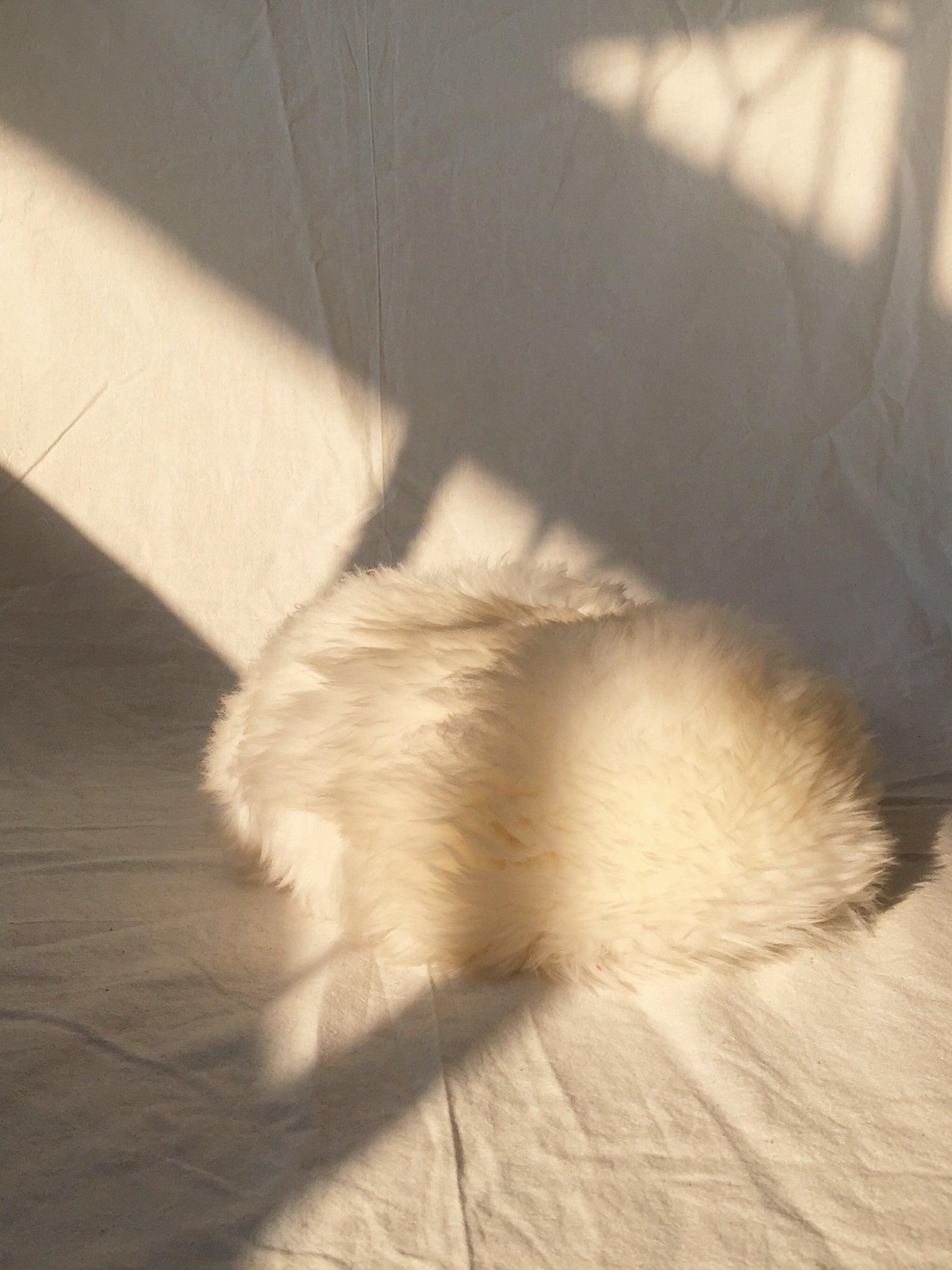 Vintage Cream Faux Fur Hat
