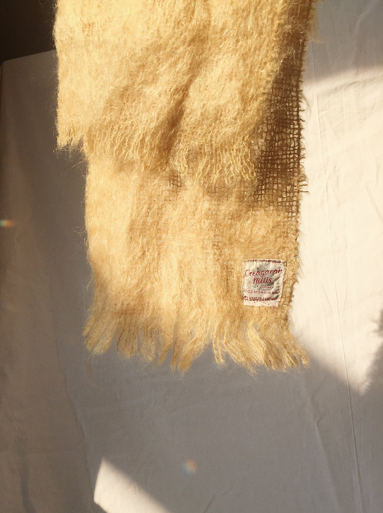 Vintage Scottish Mohair Scarf