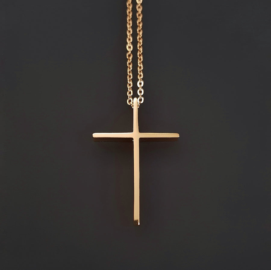Rock cross Necklace