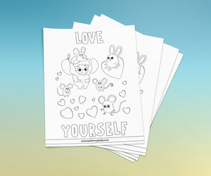 A4 Affirmation Coloring Pages