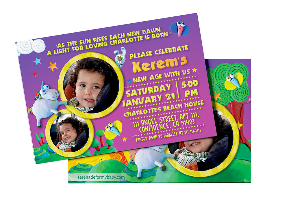 Unicorn Personalized Birthday Invitation