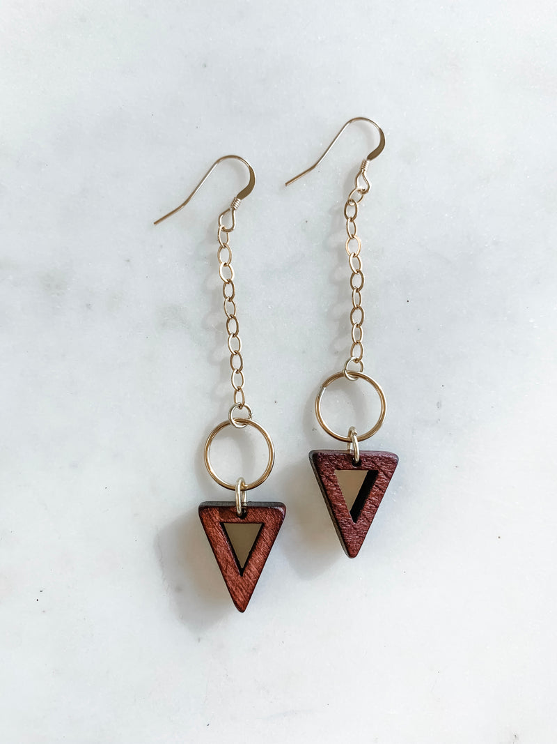 Lead The Way Triangle Earrings