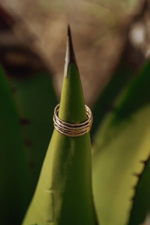 Hammered Stack Ring - The Pretty Eclectic