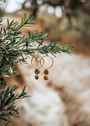 Circle The Moon & Sea Earrings - The Pretty Eclectic