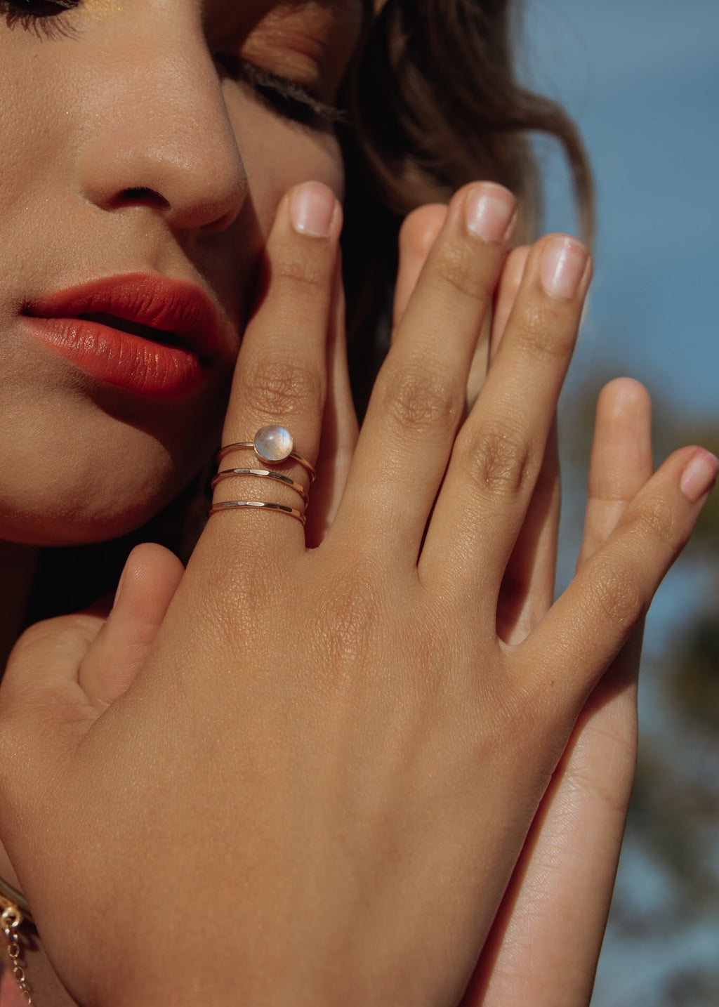 Rainbow Moonstone Ring - PREORDER* - The Pretty Eclectic