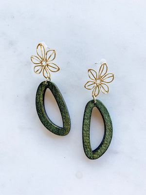 Retro Flower Earrings