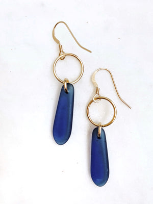Sea Glass Earrings - Ocean - The Pretty Eclectic