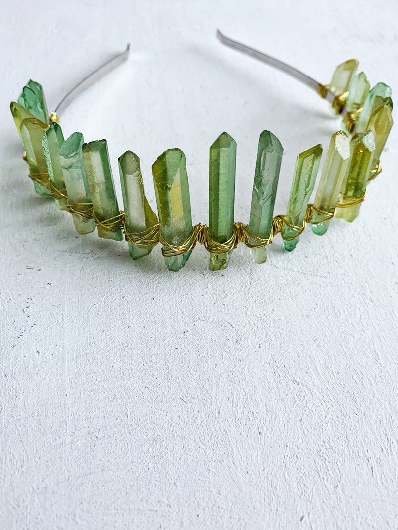 Emerald Quartz Crown