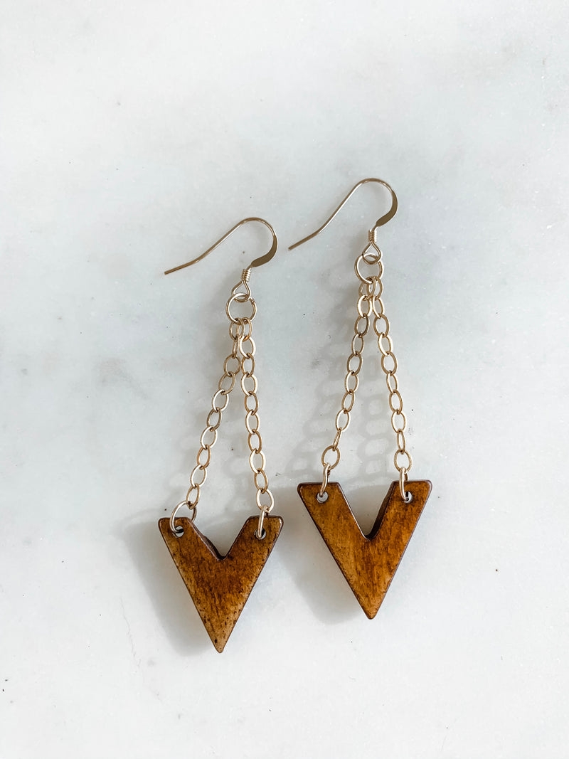 Bone Arrow Earrings