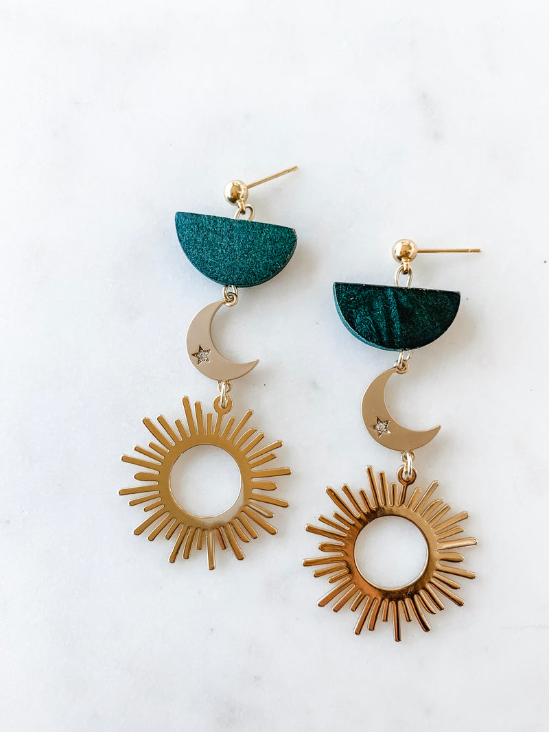 Desert Moon Sun Earrings