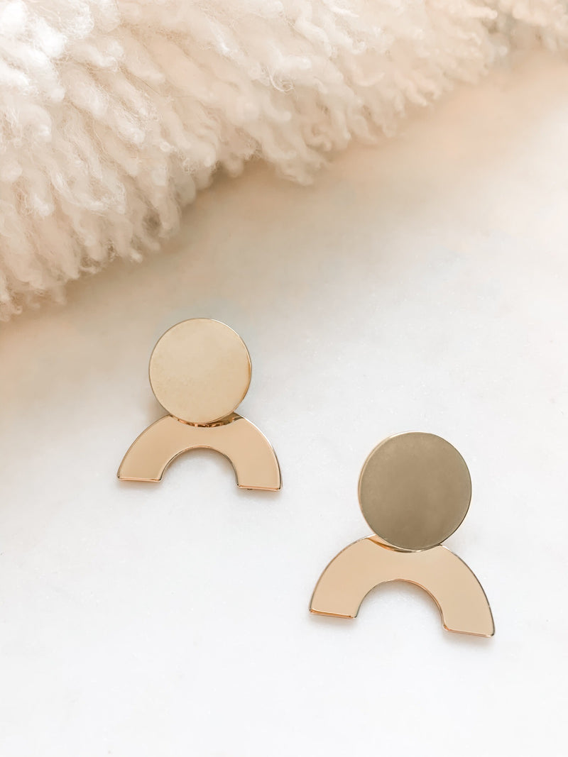 Larissa Gold Arch Earrings - The Pretty Eclectic