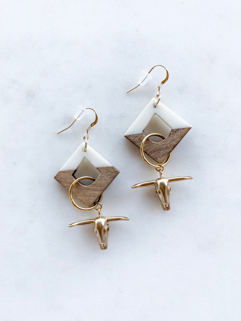 Steerhead earrings