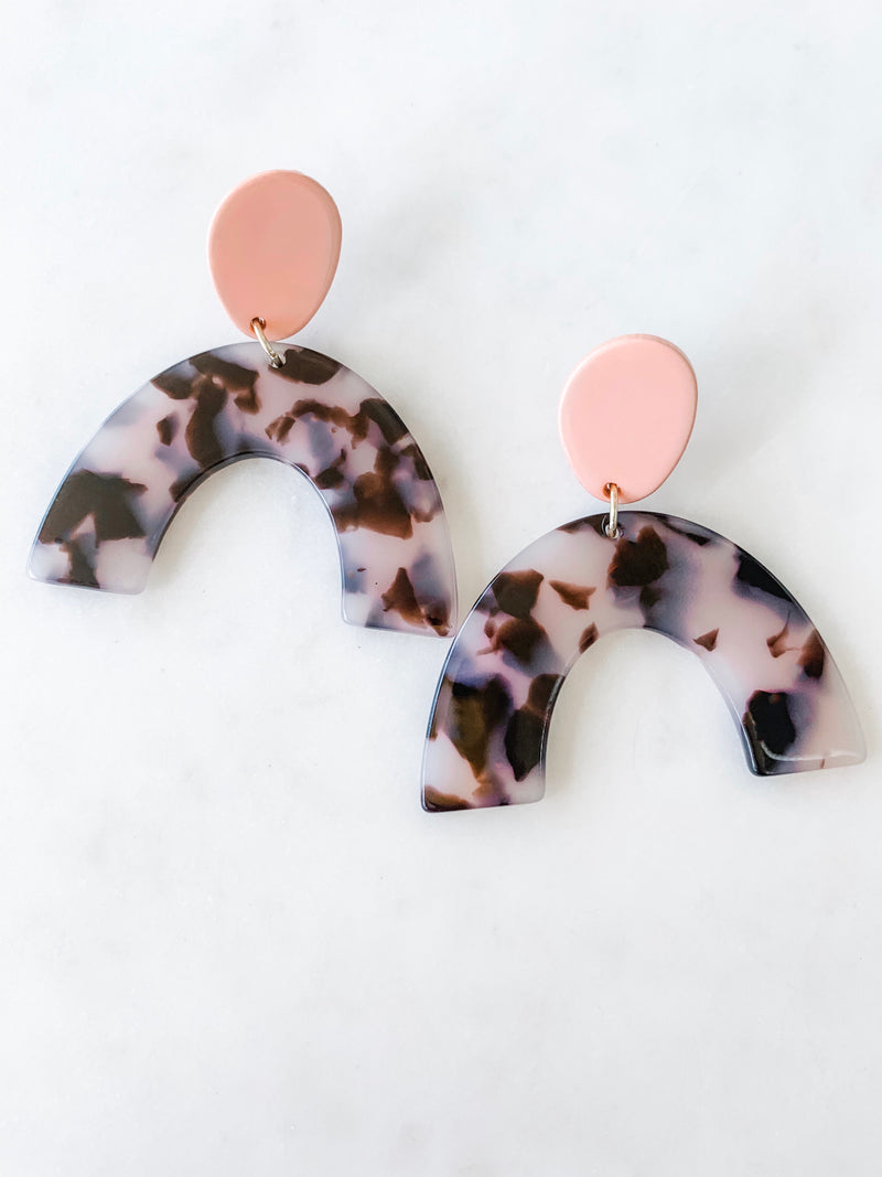 Arch Earrings, Acrylic Earrings, Geometric Jewelry