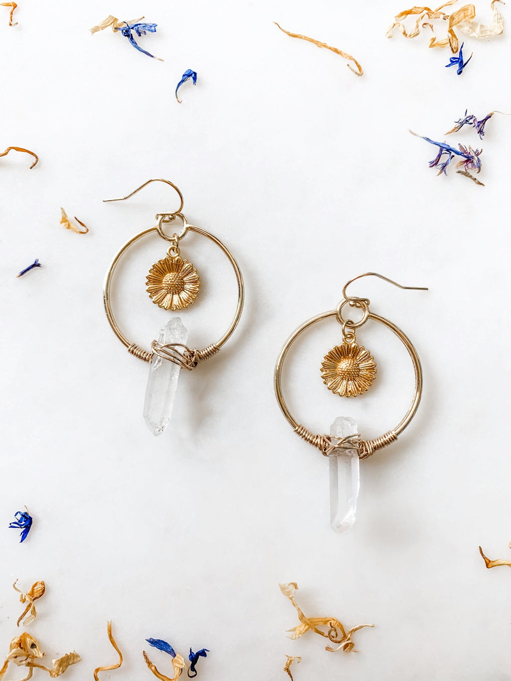 Daisy at Dawn - Quartz Earrings