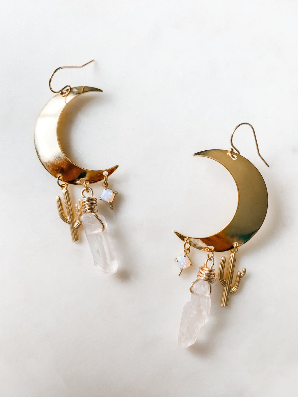 Desert Magic - Crescent Moon Earrings