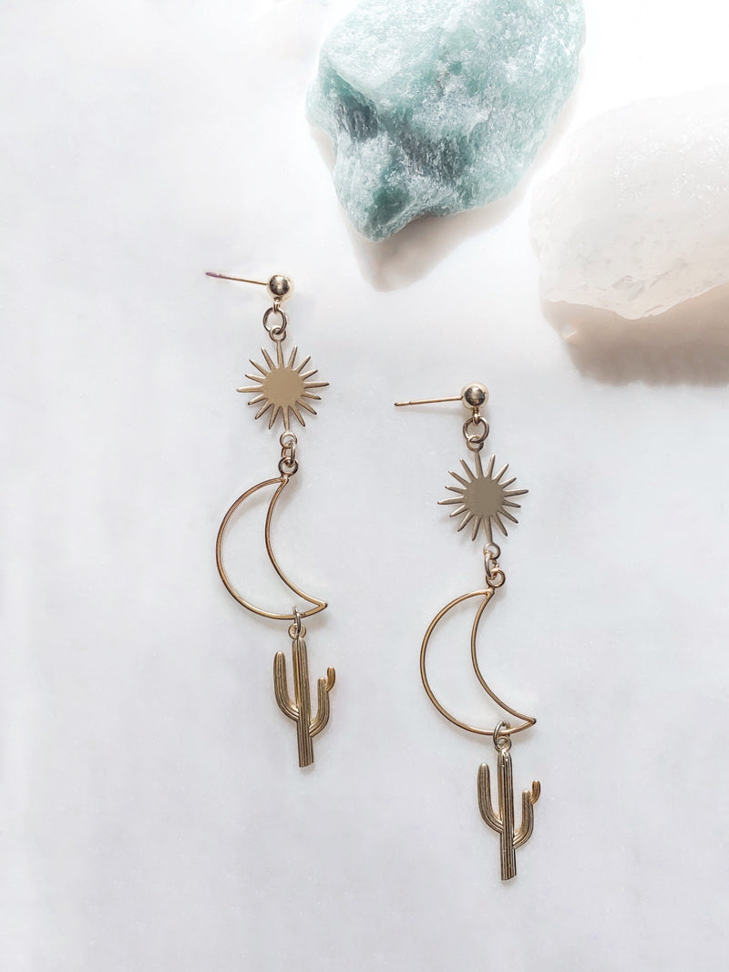 Desert Sky - Cactus Earrings - The Pretty Eclectic