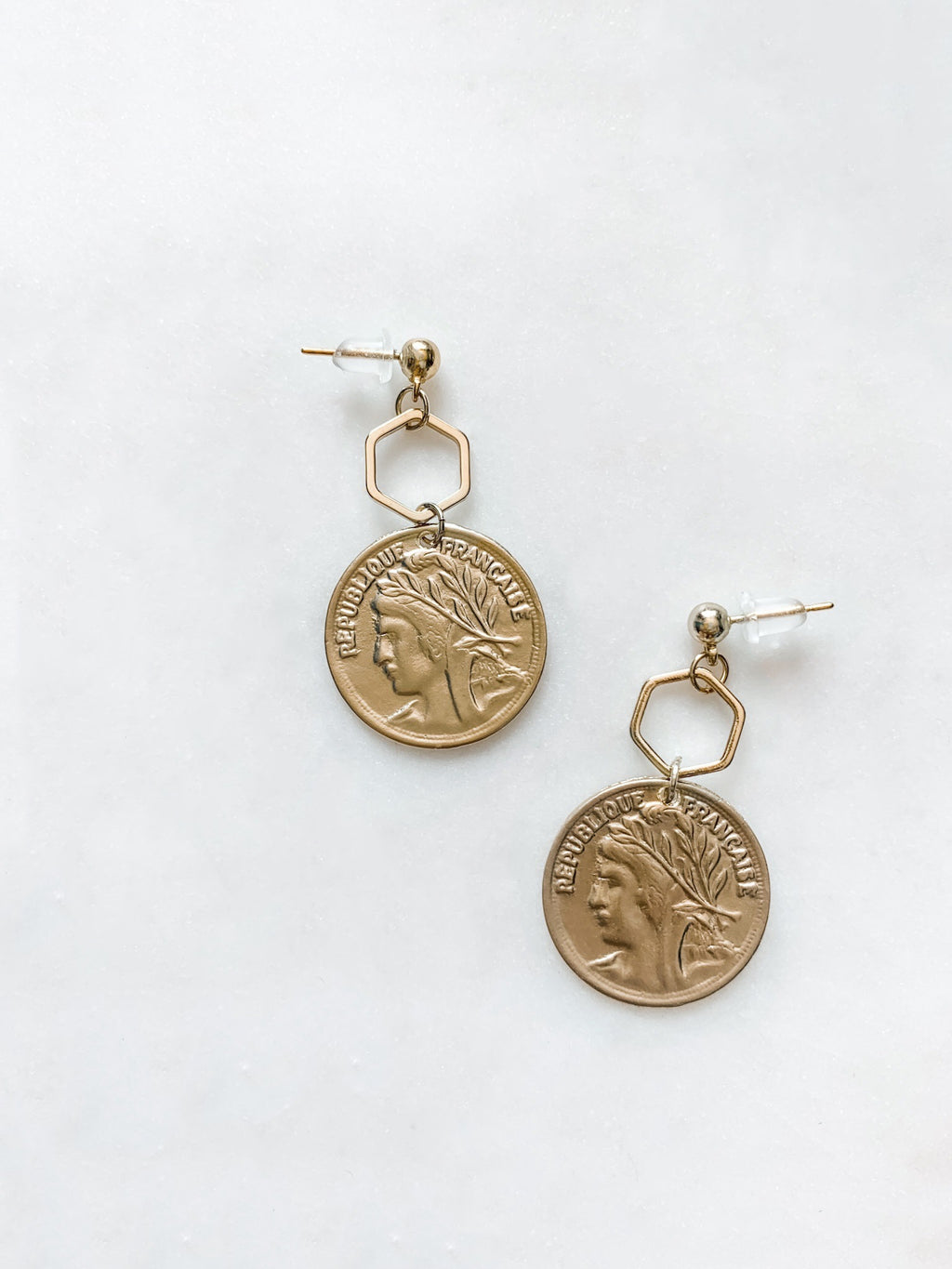 French Coin Earrings - The Pretty Eclectic