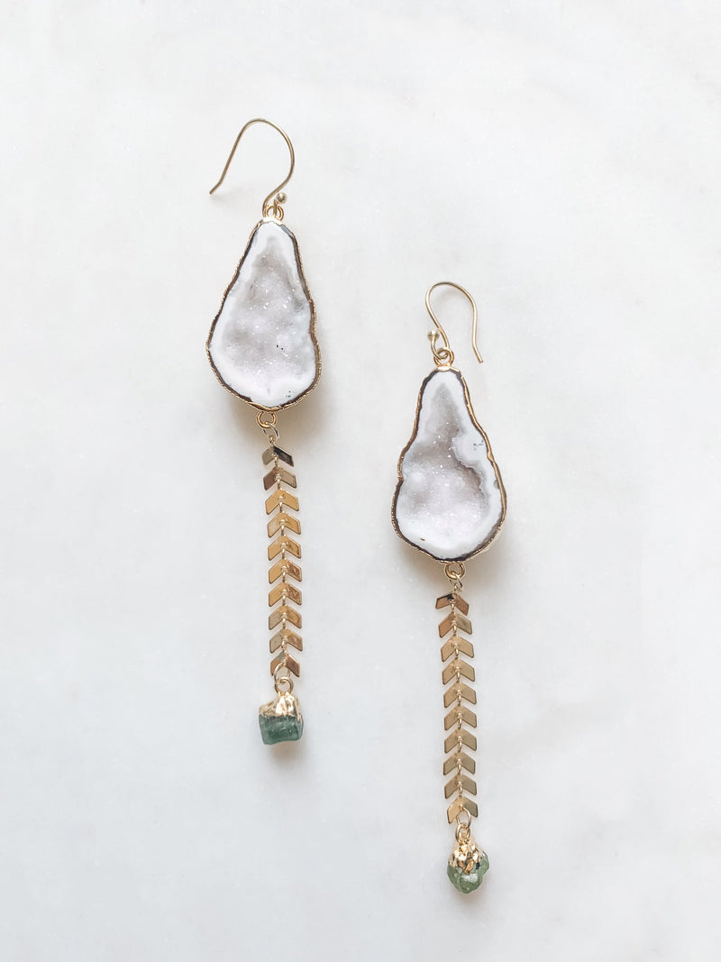 Geode Duster Earrings - The Pretty Eclectic