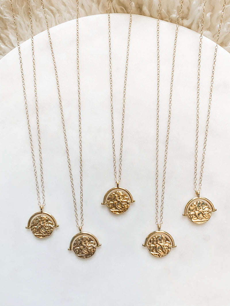 Greek Coin Necklace - The Pretty Eclectic