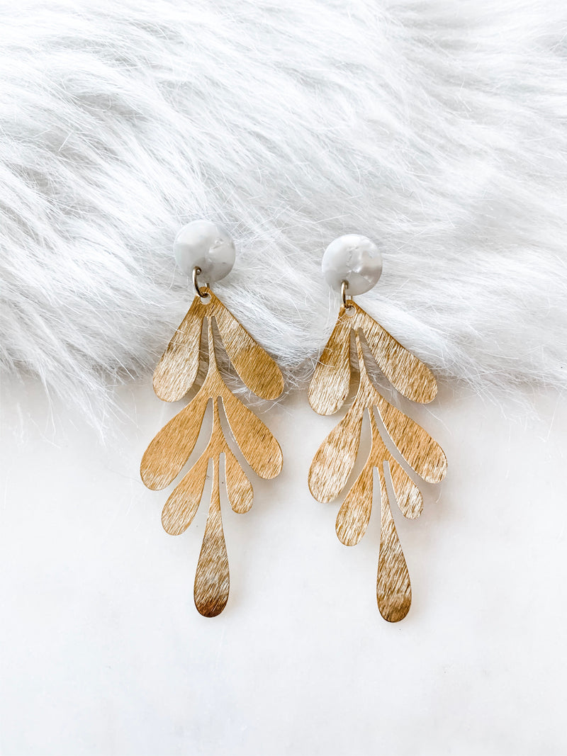 Long Brass Leaf - The Pretty Eclectic