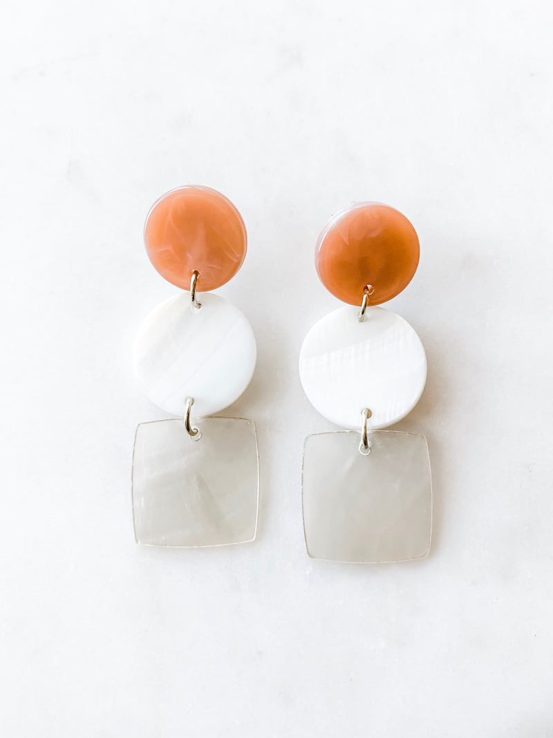 Mother of Pearl and Shell Earrings