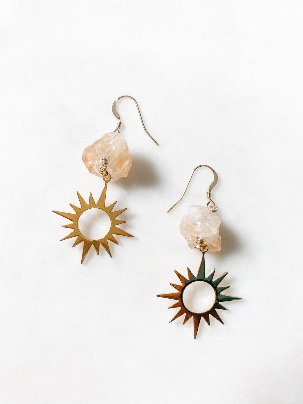 Golden Sun - Citrine Quartz Earrings - The Pretty Eclectic