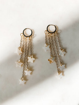 Astra - Celestial Pearl Drop Earrings - The Pretty Eclectic