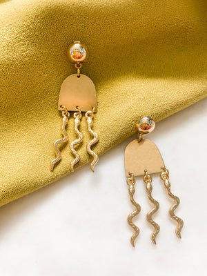 Snake Charmer Earrings - The Pretty Eclectic