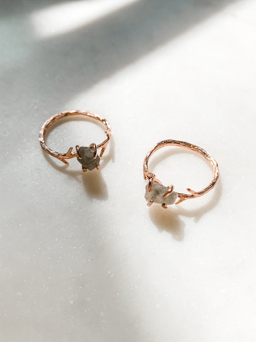 Rosaline - Rose Gold Twig Ring - The Pretty Eclectic