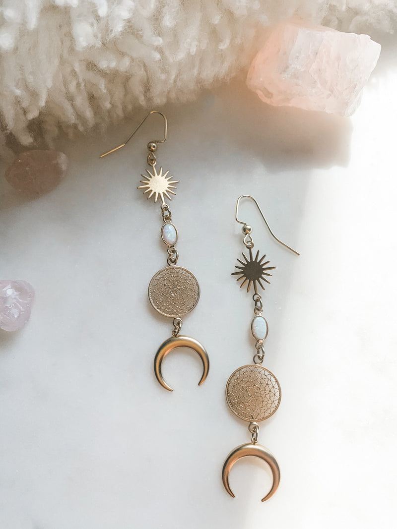 Moondream - Opal Drop Earrings