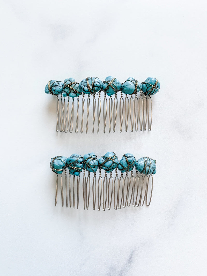 Turquoise Hair Comb - The Pretty Eclectic