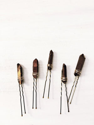 Bronze Quartz Pins - The Pretty Eclectic
