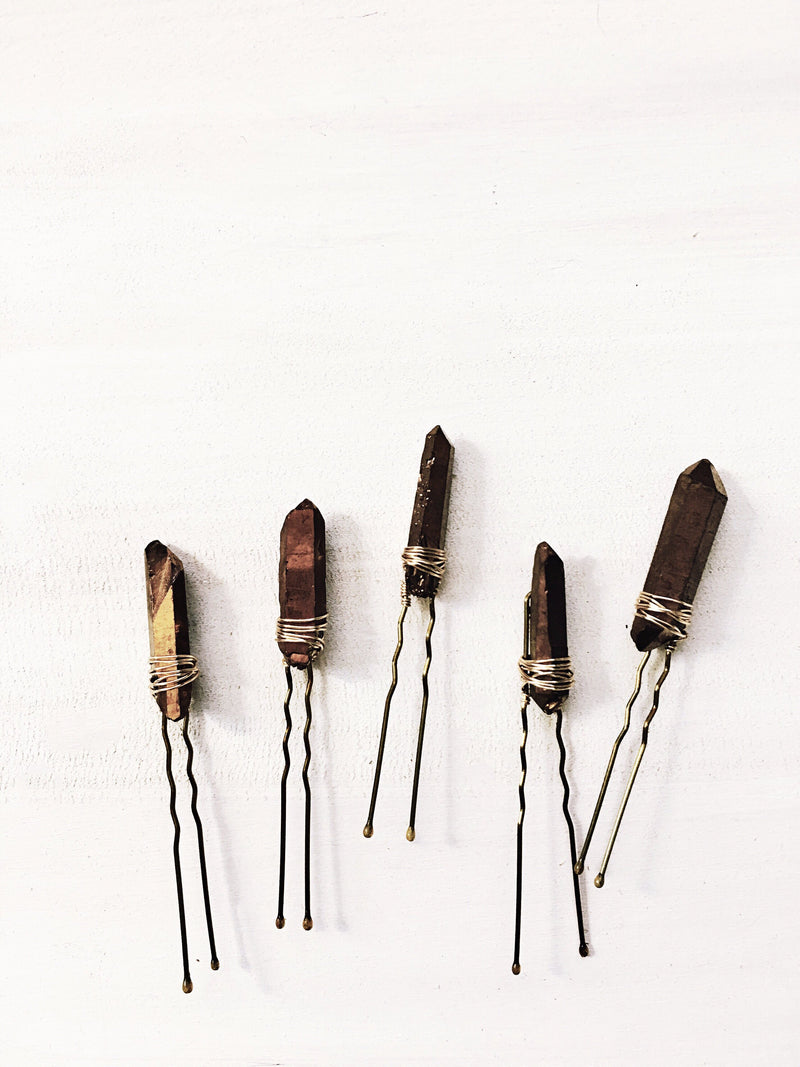 Quartz Hair Pins