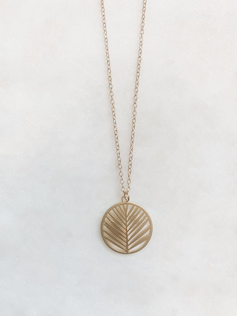 Laser Cut Leaf Necklace - The Pretty Eclectic