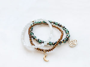 Lotus & Luna Bracelet Set - The Pretty Eclectic