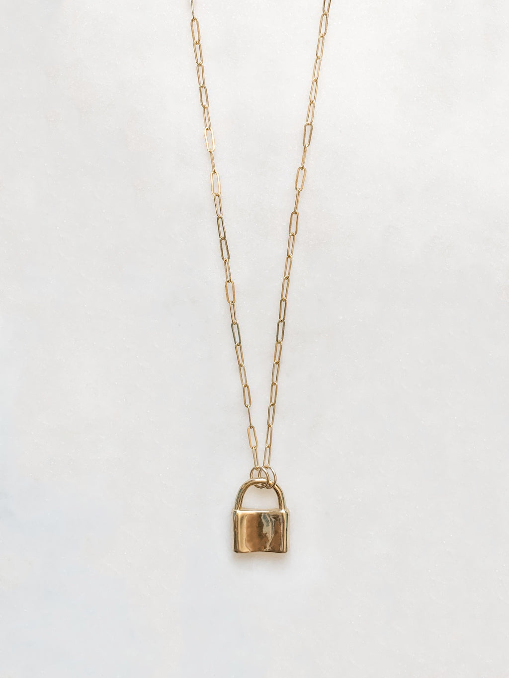 Mini Paperclip and Lock Necklace - The Pretty Eclectic