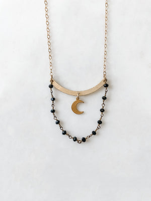 Midnight Moon - Onyx Necklace