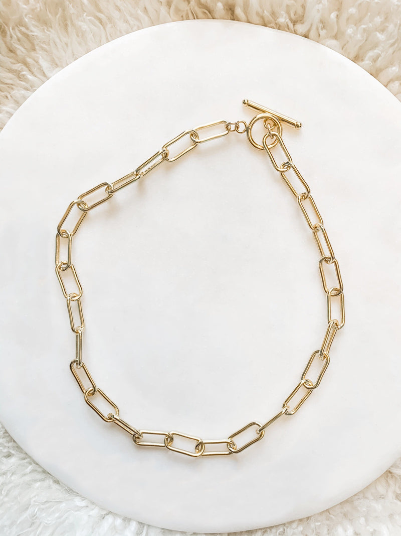 Gold Filled Paperclip Choker