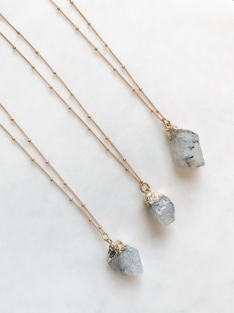 Rutilated Quartz Necklace - The Pretty Eclectic