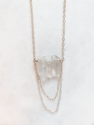 Sophia Quartz Necklace - The Pretty Eclectic