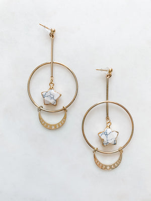 Star and Moon Phase Earrings - The Pretty Eclectic