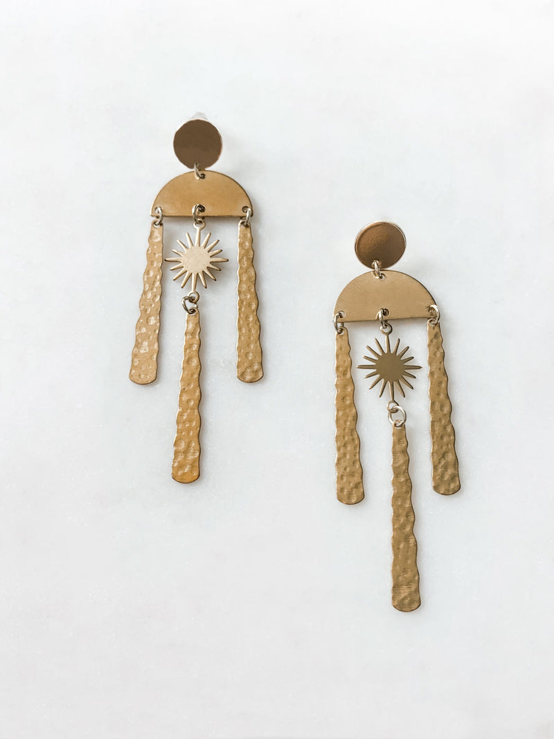Here Comes The Sun Earrings - The Pretty Eclectic