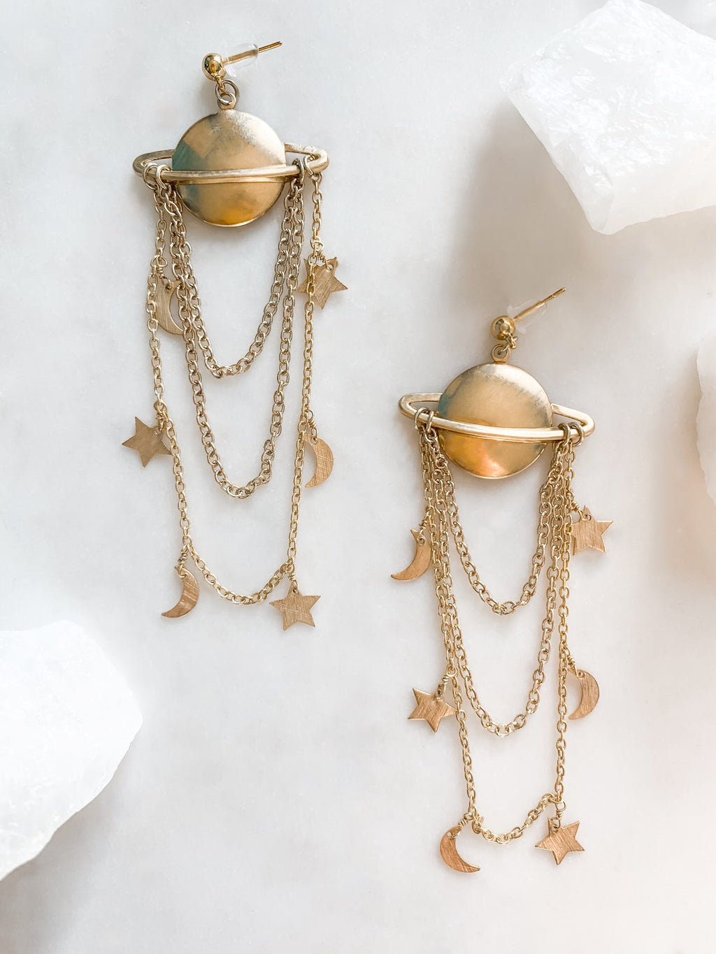 Saturn Earrings - The Pretty Eclectic