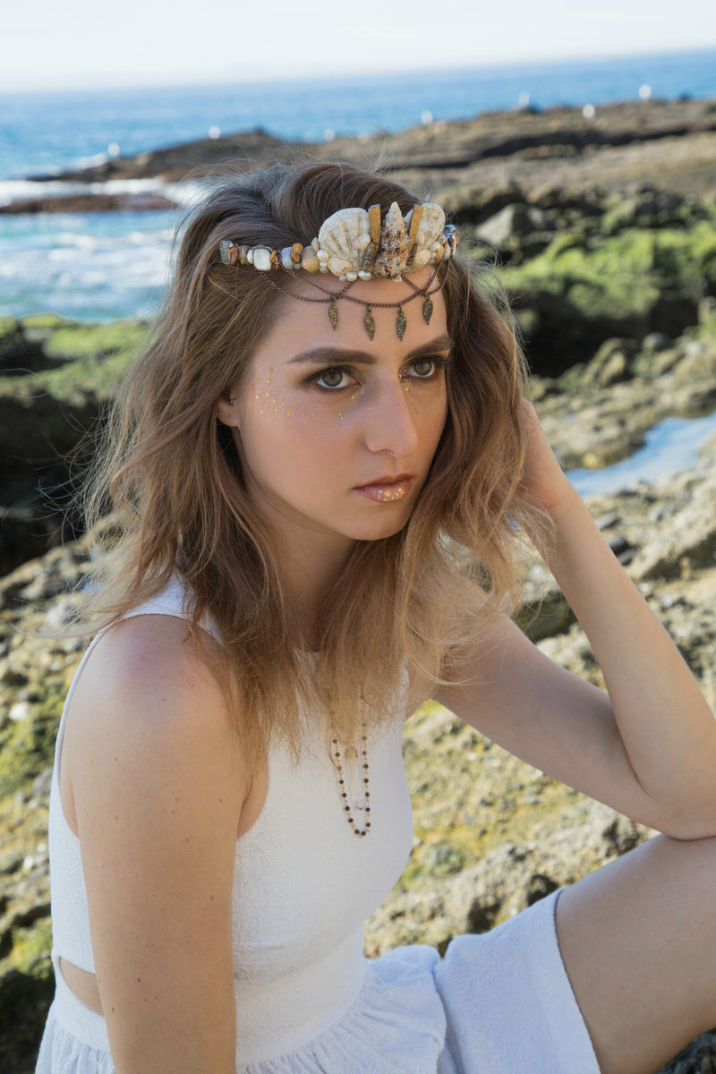 Avalon Shell Crown - The Pretty Eclectic