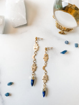 Divinity Earrings - Lapis Lazuli - The Pretty Eclectic